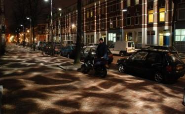 'Broken Light' softens a hardscrabble street in Rotterdam's old harbor